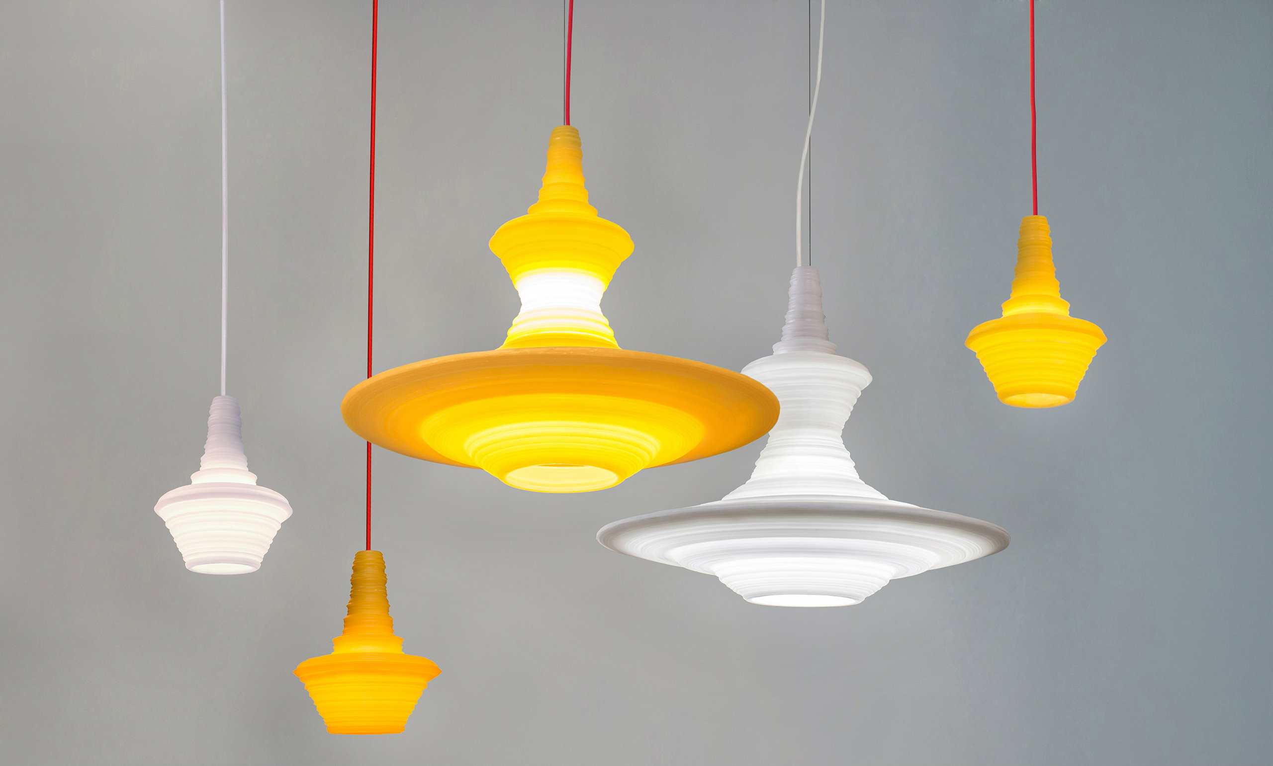 Stupa White Pendant Lights Launched At Maison Objet - Individual pendant lights