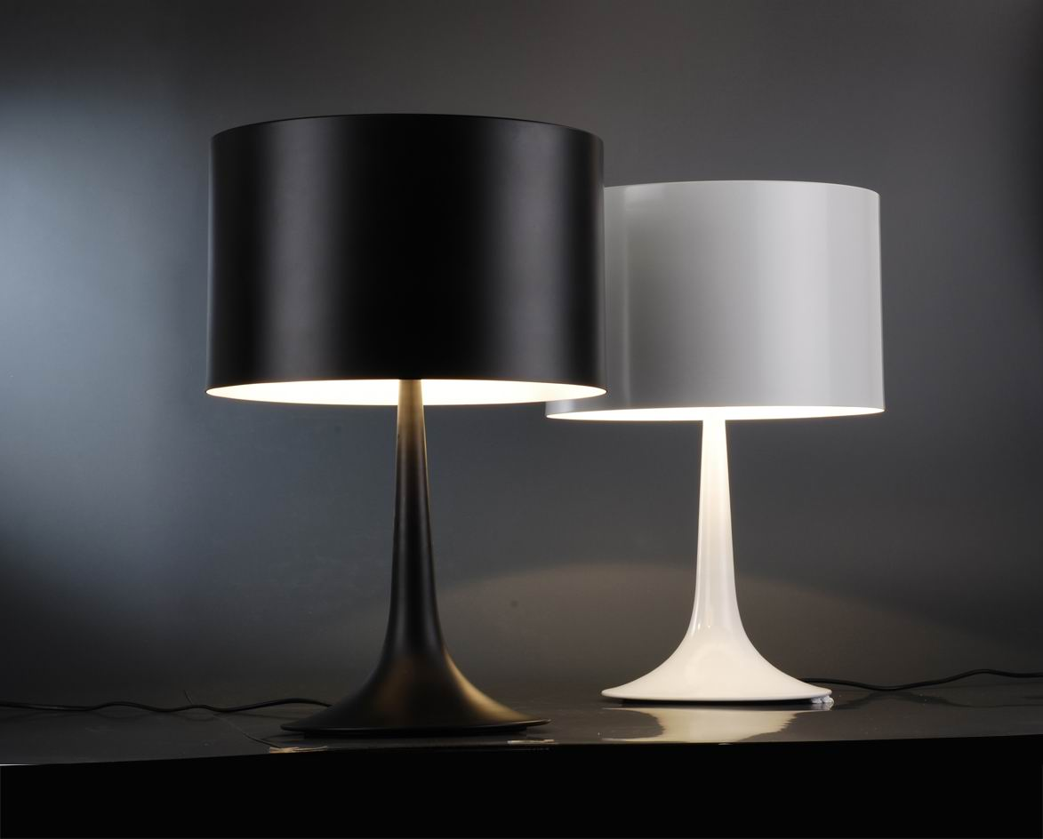 Contemporary table lamps for a bedroom