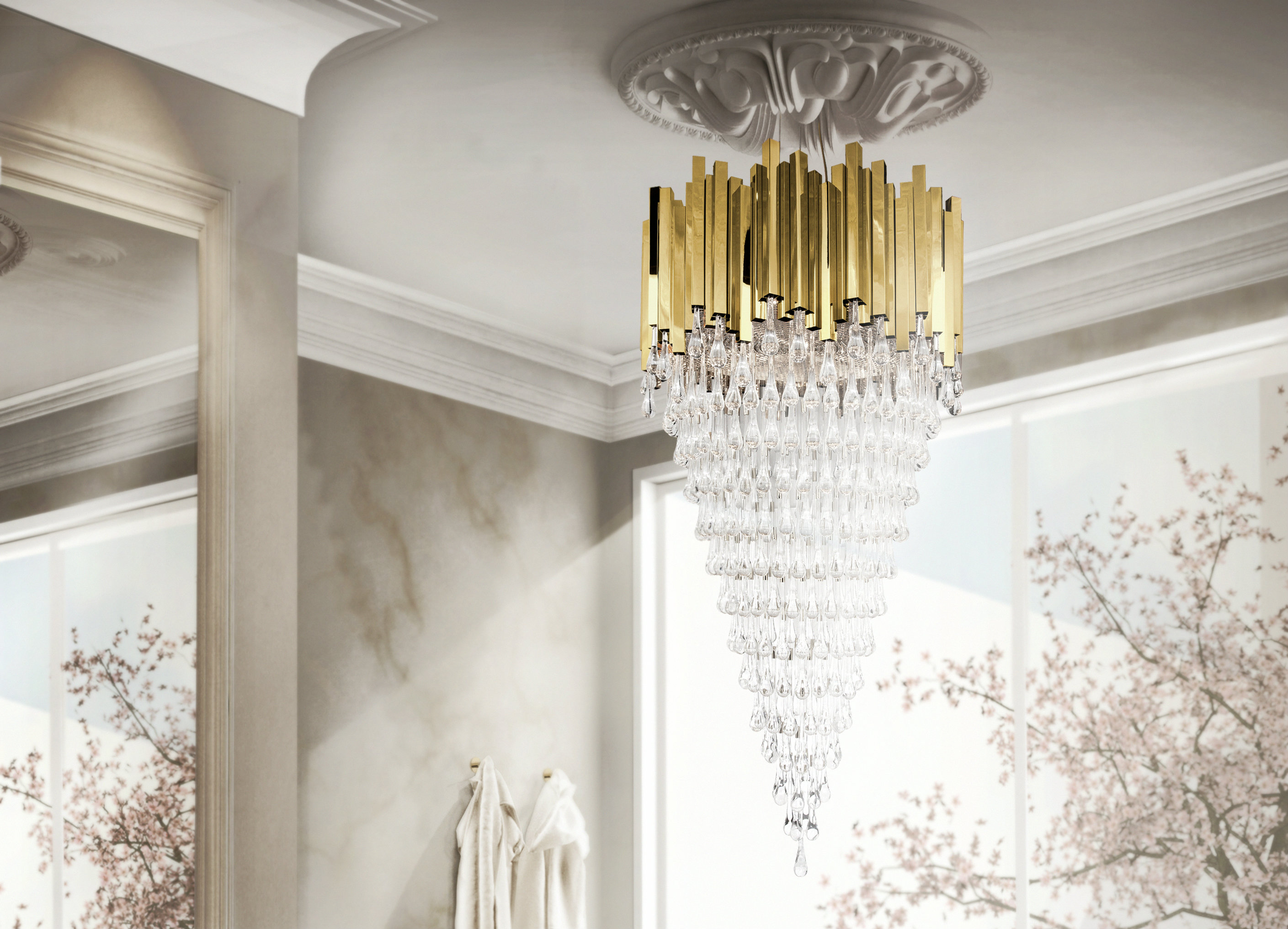 bathroom Light up your bathroom with the best lighting designs trump chandeleir