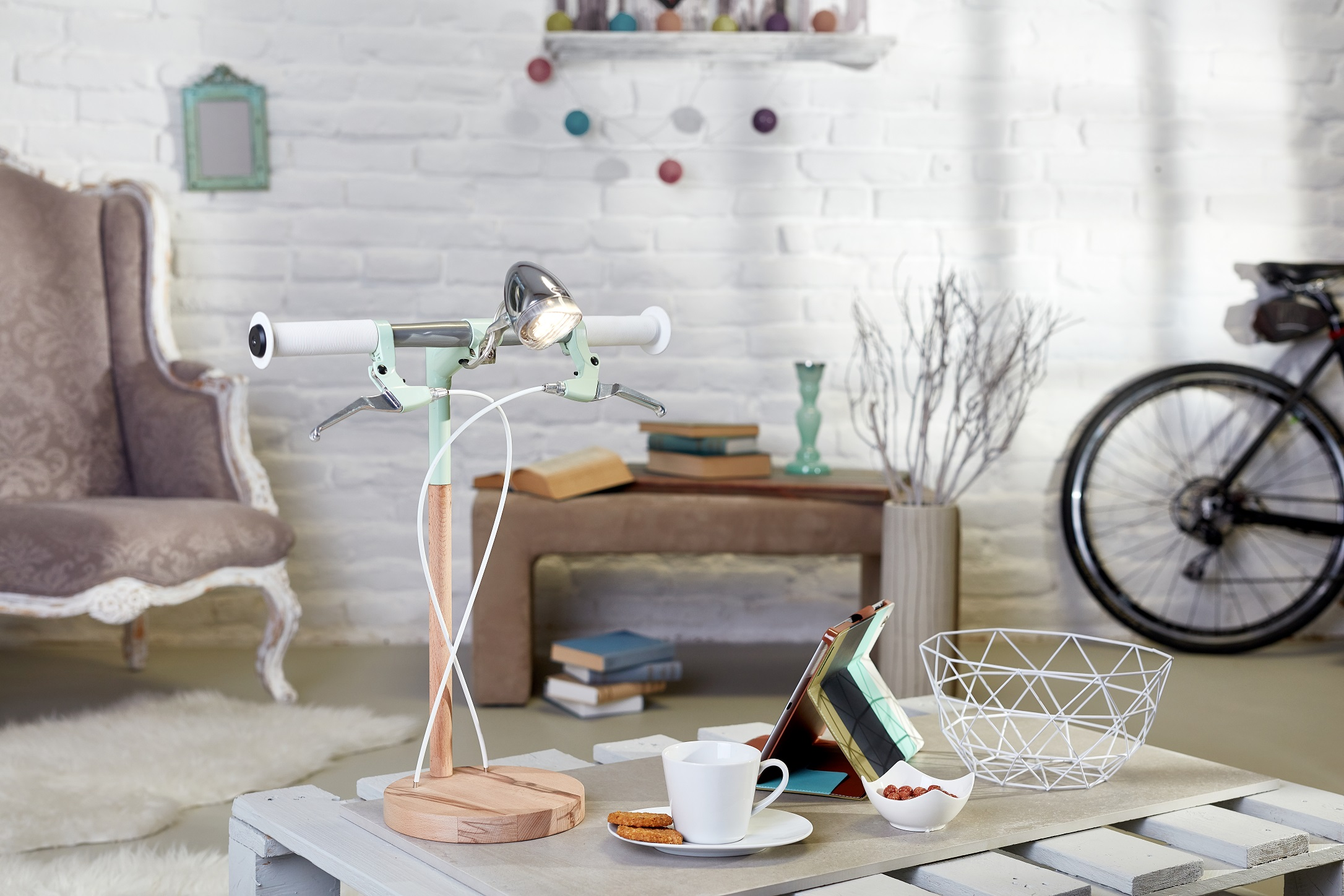 desk lamp Find Bike desk lamp by Industrial Kid Find Bike desk lamp by Industrial Kid 1