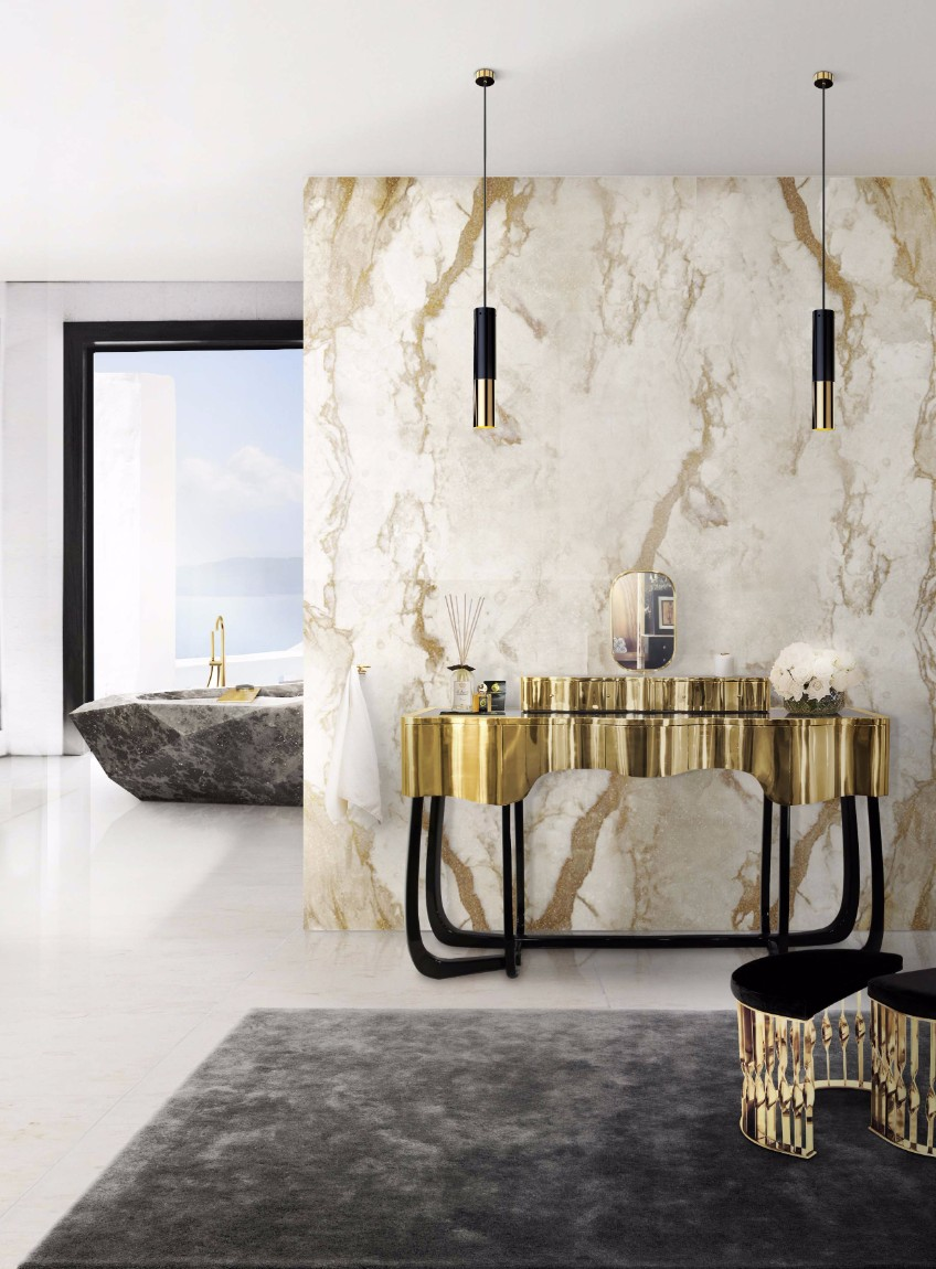 bathroom lighting bathroom lighting What's Hot On Pinterest: The Perfect Bathroom Lighting 11 sinuous dressing table mandy stool diamond bathtub maison valentina HR