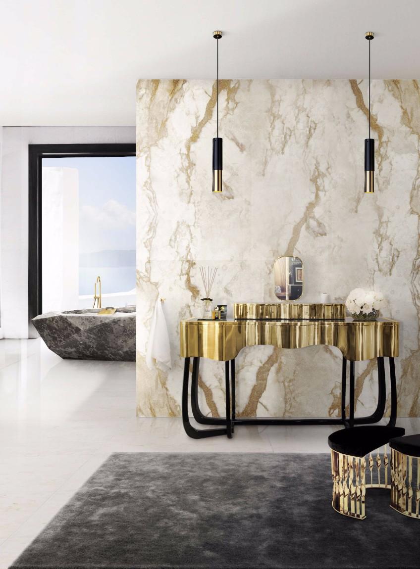 bathroom lighting bathroom lighting What's Hot On Pinterest: The Perfect Bathroom Lighting 11 sinuous dressing table mandy stool diamond bathtub maison valentina HR
