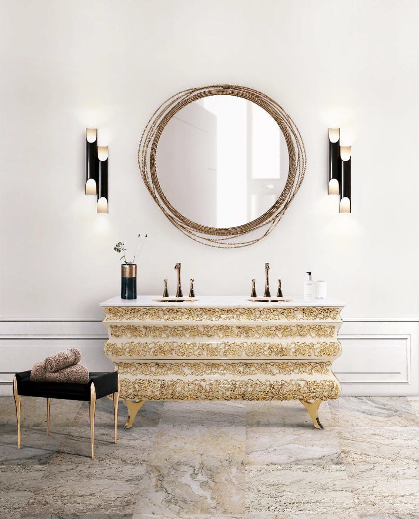 bathroom lighting bathroom lighting What's Hot On Pinterest: The Perfect Bathroom Lighting 17 crochet washbasin galliano wall lamp maison valentina 1 HR