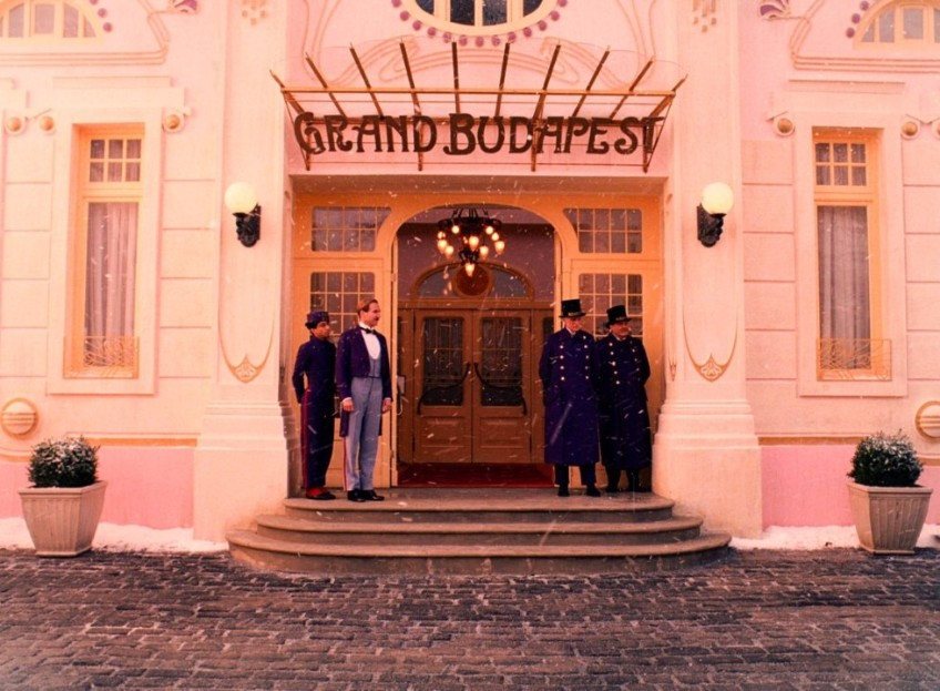 production design production design Delicate décor — about the production design in Grand Budapest Hotel GBH entrance