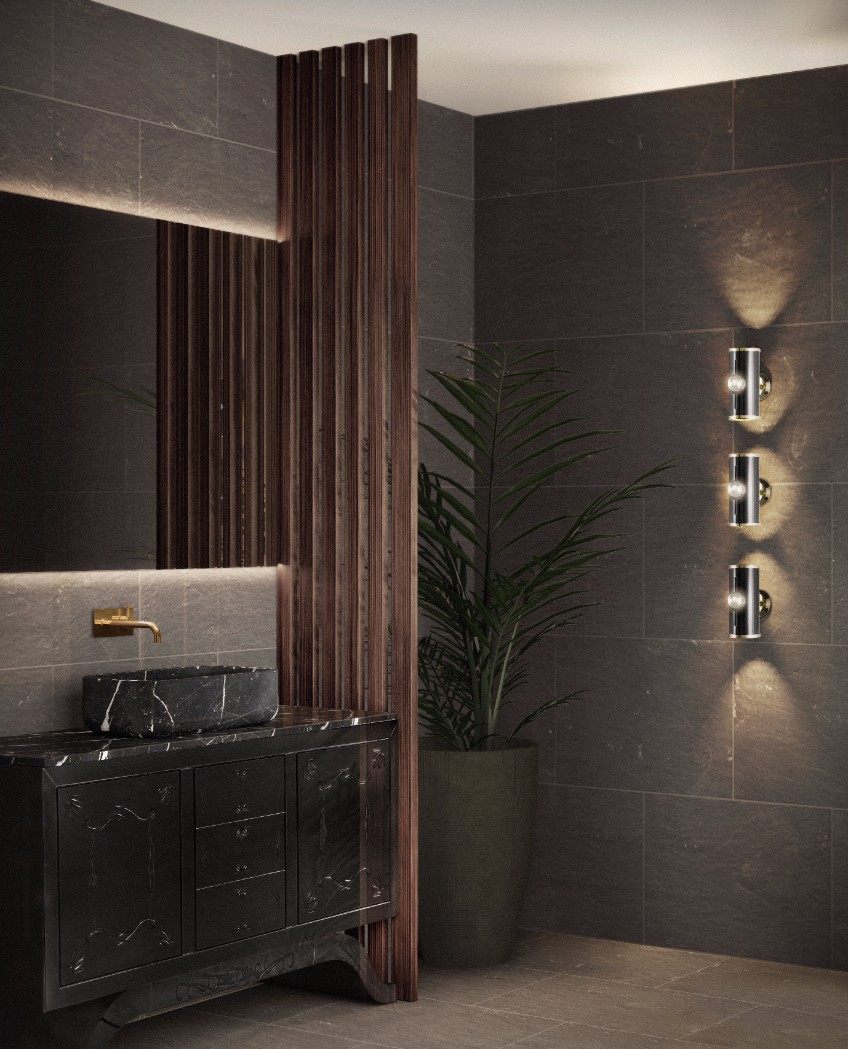 bathroom lighting bathroom lighting What's Hot On Pinterest: The Perfect Bathroom Lighting bathroom interior delightfull unique lamps 01 HR