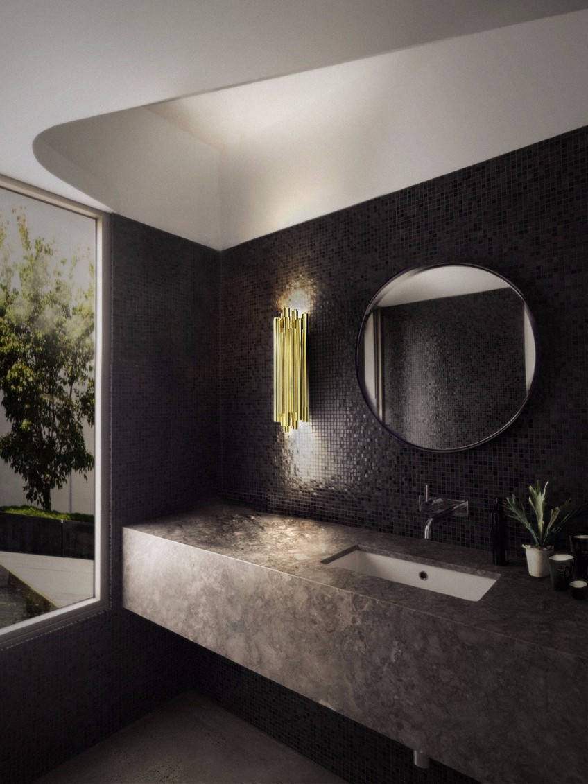 bathroom lighting bathroom lighting What's Hot On Pinterest: The Perfect Bathroom Lighting brubeck wall ambience 05 HR