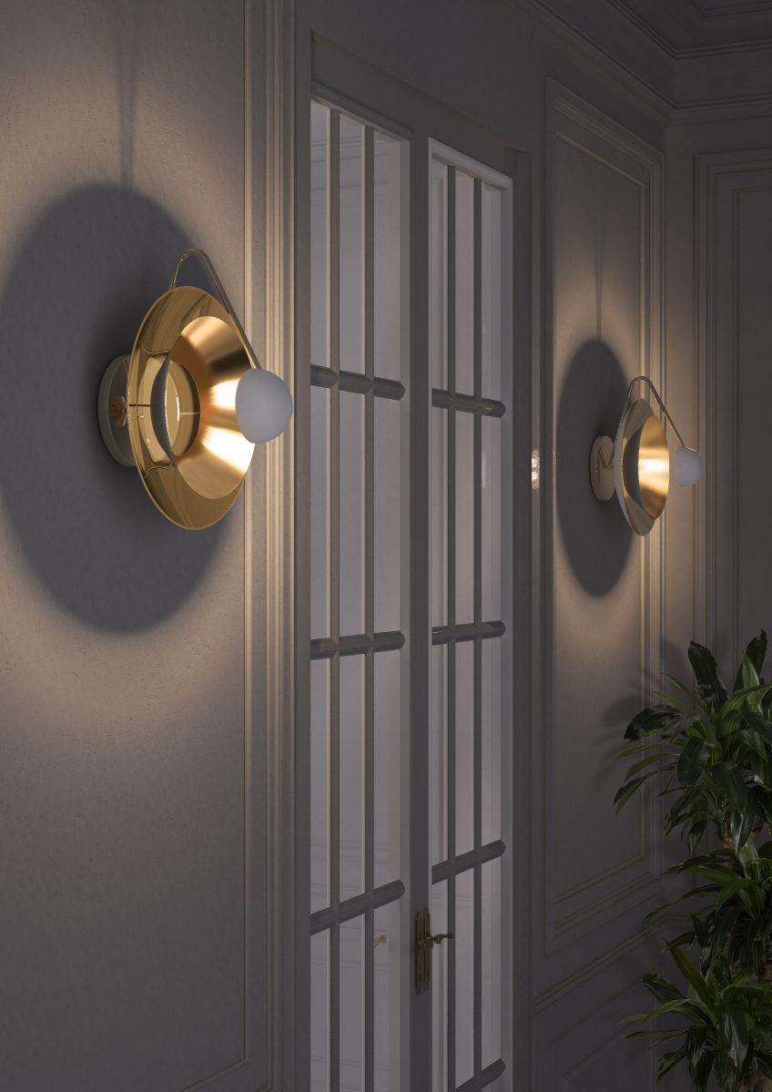 hall lighting hall lighting Hall lighting or welcoming guests to the luxury of your home delightfull basie wall lamp ambience 01 e1490977282715