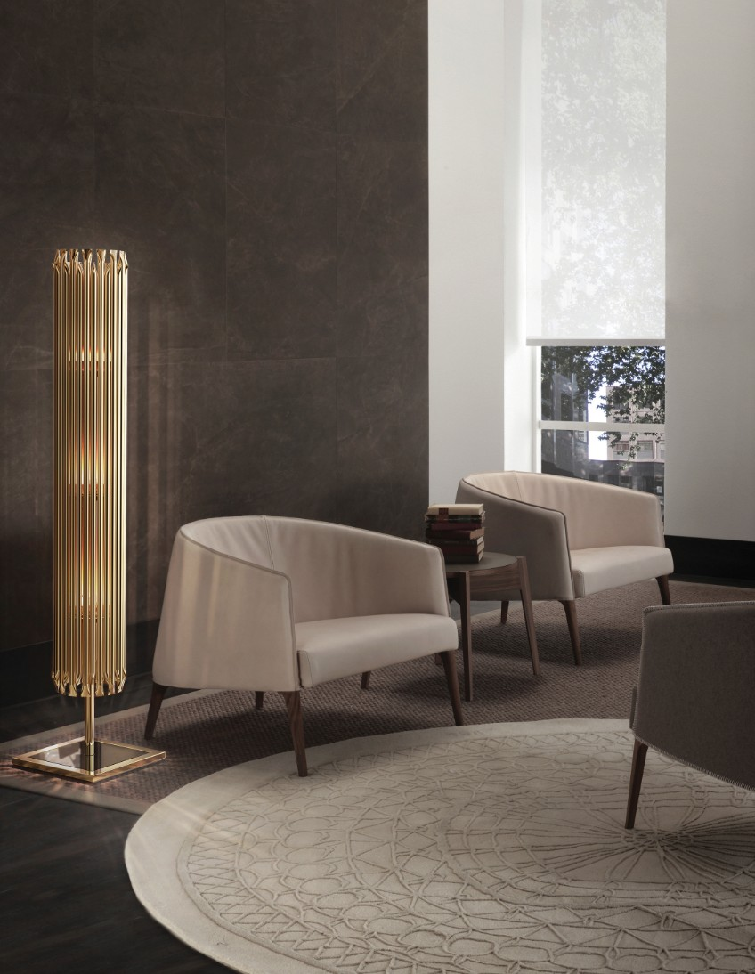 commercial lighting hotel commercial lighting Commercial lighting: update your hotel lighting fixtures delightfull matheny stilnovo classic modern geometric golden tubes floor lamp 01