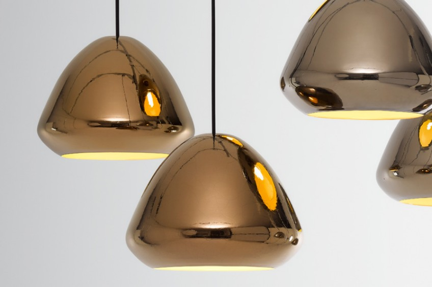 pendant lamps Metallic Collection of Pendant Lamps by Ross Gardam Metallic Collection of Pendant Lamps by Ross Gardam 3