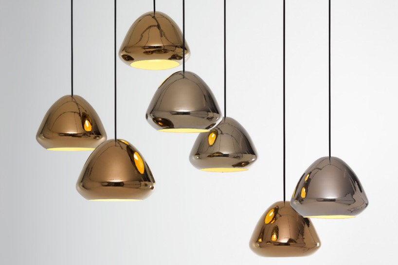 pendant lamps Metallic Collection of Pendant Lamps by Ross Gardam Metallic Collection of Pendant Lamps by Ross Gardam