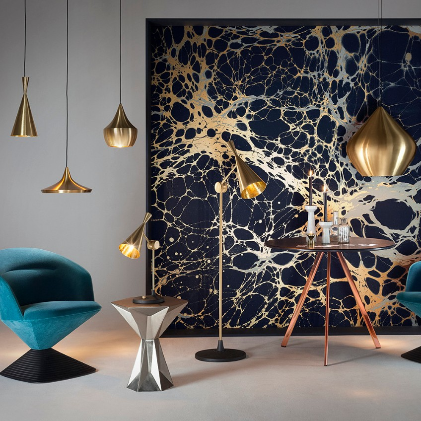 luxury lighting Luxury Lighting: Meet Tom Dixon's Collection white beat stout pendant tall 959204