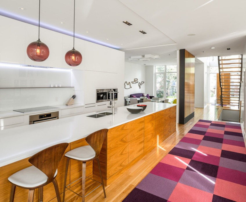 Modern Kitchen Pendant Lighting pendant lighting gives this modern kitchen a new twist | lighting
