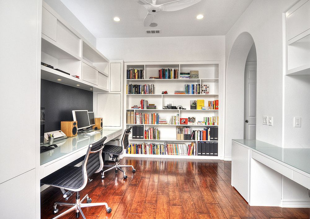 The Perfect Way To Rock An All White Office Design 4 office design The Perfect Way To Rock An All White Office Design The Perfect Way To Rock An All White Office Design 4