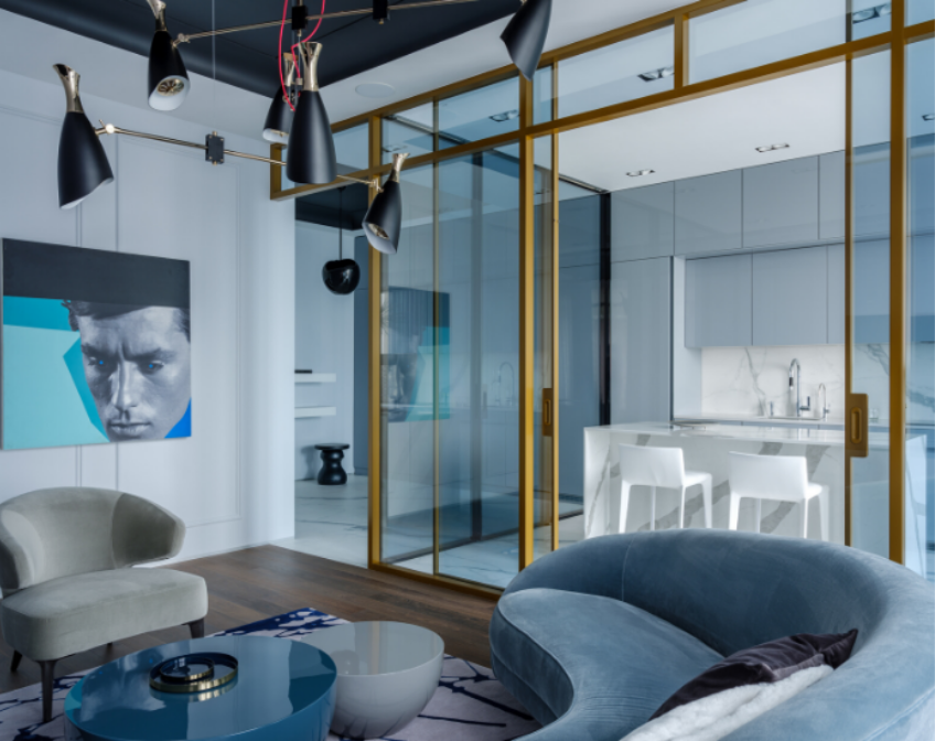 Get Inside This Modern Blue Apartment get inside this modern blue apartment Get Inside This Modern Blue Apartment in Russia Get Inside This Modern Blue Apartment 3
